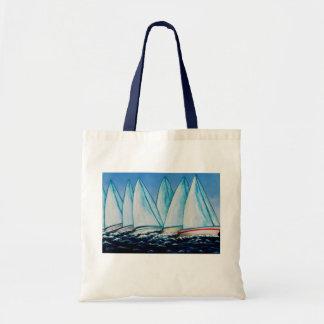 Pintura de la navegación del Regatta de Lisa Bolso De Tela