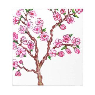 Pintura de la rama de Sakura Bloc De Notas
