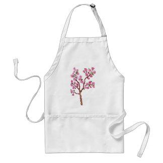 Pintura de la rama de Sakura Delantal