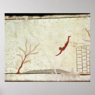 Pintura de la tumba del buceador del sur impresiones
