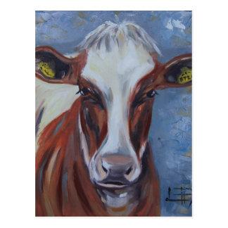 Pintura de la vaca, decoración de la vaca, arte de postal