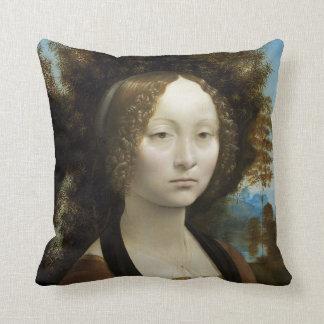 Pintura de Leonardo da Vinci Ginevra de' Benci Cojín