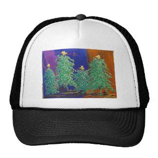 Pintura de los árboles de navidad gorros bordados