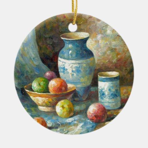 Pintura de los buques de la fruta y de la cerámica ornamento para reyes magos
