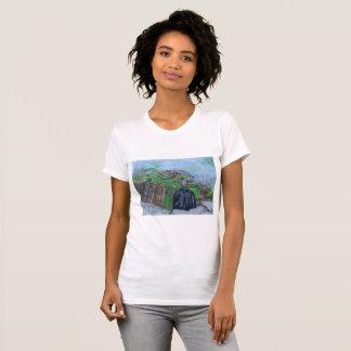 Pintura de Machu Picchu Perú Camiseta