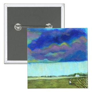 Pintura de paisaje abstracta del arte popular de chapa cuadrada 5 cm