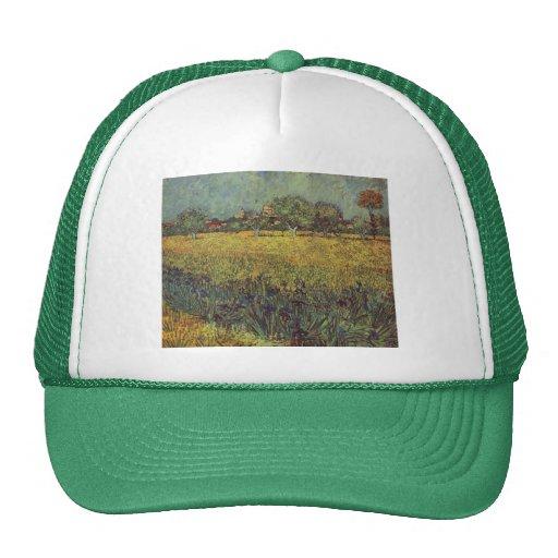 Pintura de paisaje de Vincent van Gogh Gorras