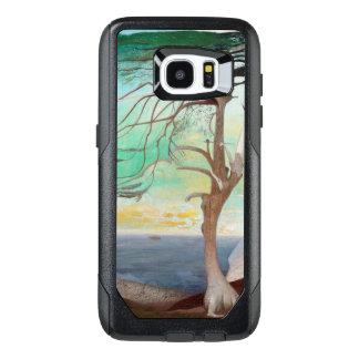 Pintura de paisaje sola del árbol de cedro funda OtterBox para samsung galaxy s7 edge