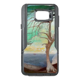 Pintura de paisaje sola del árbol de cedro funda OtterBox para samsung note 5