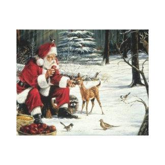 Pintura de Papá Noel - arte del navidad