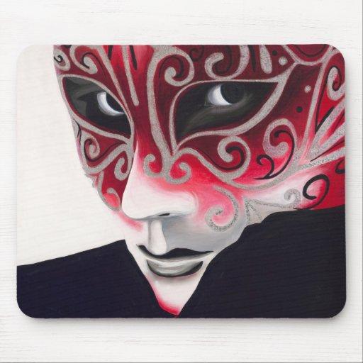 Pintura de plata de la m scara del instinto tapetes de ratones zazzle - Pintura instinto ...