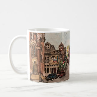 Pintura de poca Italia, Cleveland Ohio en una taza