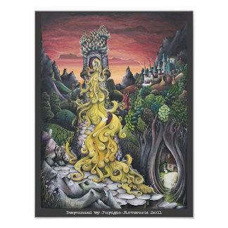 Pintura de Rapunzel Fotografia