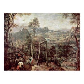 Pintura de un Gallow de Pieter Brueghel la anciano Tarjetas Postales