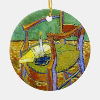 Pintura de Vincent van Gogh de la silla de Gauguin Ornamento Para Reyes Magos
