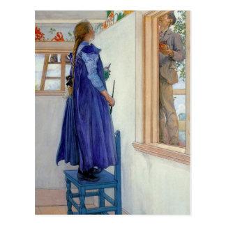 Pintura decorativa de Susana en la pared Postal