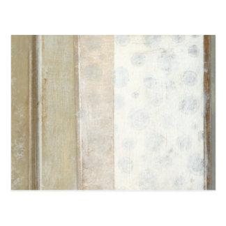 Pintura decorativa del panel en colores neutrales postal