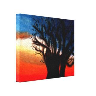 Pintura del árbol del baobab lona envuelta para galerias