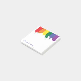 Pintura del arco iris del orgullo gay de LGBT Notas Post-it®