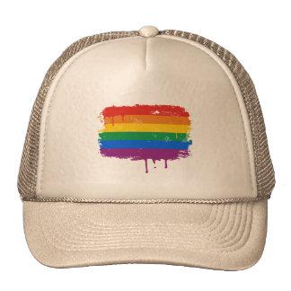 Pintura del arco iris gorro