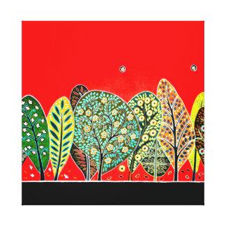 Pintura del bosque del estilo del arte popular