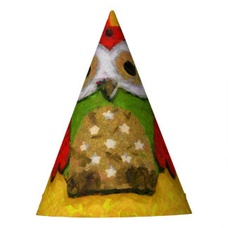 Pintura del búho gorro de fiesta