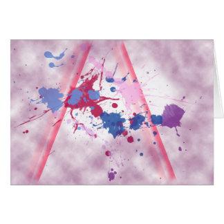 Pintura del chapoteo (paisaje) tarjeta de felicitación