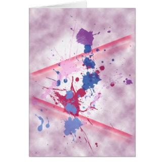 Pintura del chapoteo (retrato) tarjeta de felicitación
