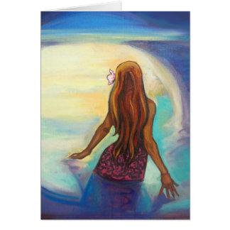 """""""Pintura del chica de Ehu"""" en tarjeta de"""