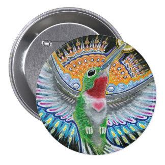 "Pintura del colibrí de Beija Flor (""Kisser de la f Pins"
