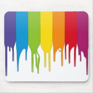 Pintura del color del vector alfombrillas de raton