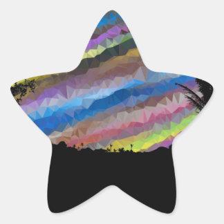 Pintura del creyón pegatina en forma de estrella