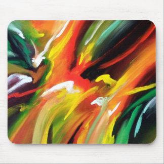 Pintura del expresionismo abstracto alfombrilla de ratón