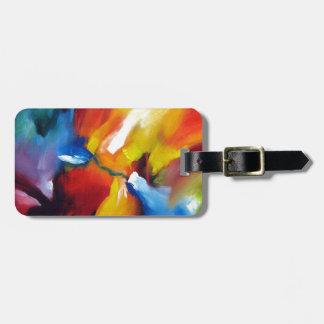 Pintura del expresionismo abstracto etiquetas para maletas