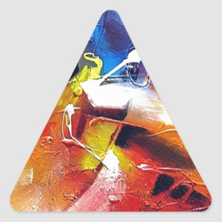 Pintura del expresionismo abstracto pegatina triangular
