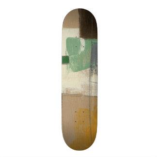 Pintura del expresionista con los movimientos tabla de patinar