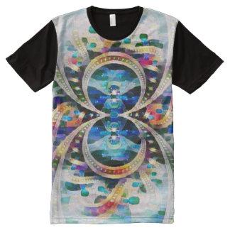 Pintura del extracto del símbolo del infinito de camiseta con estampado integral