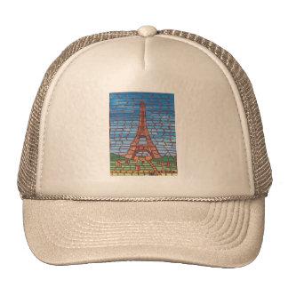 Pintura del mosaico de los gorras del camionero de
