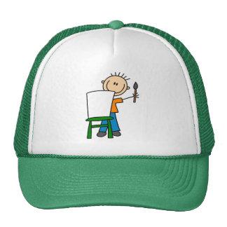 Pintura del muchacho gorras