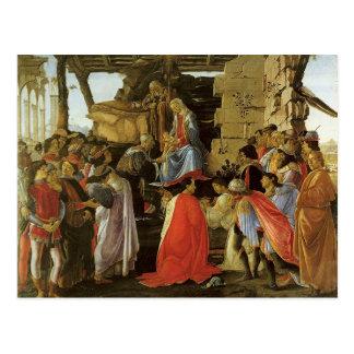 Pintura del renacimiento de Botticelli Postal