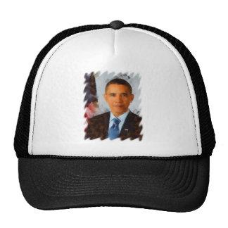 Pintura del retrato de Obama Gorras De Camionero