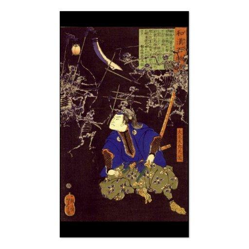 Pintura del samurai del fantasma, C. 1865 Tarjeta De Negocio