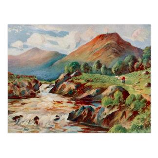 Pintura del vintage del río Conan en Ross-condado Postal