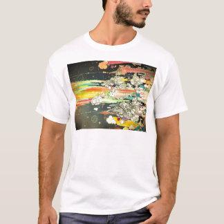 pintura diaria abstracta del chapoteo camiseta
