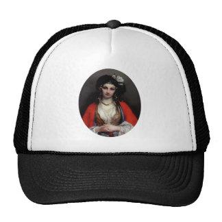 Pintura exótica de la mujer gorras