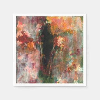 Pintura figurada gótica, arte floral abstracto servilleta desechable