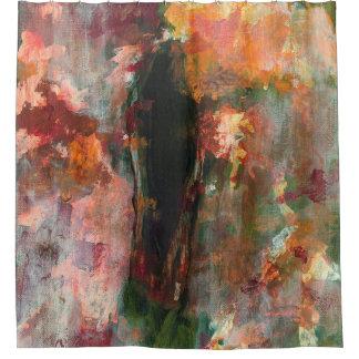 Pintura figurada gótica floral del arte abstracto cortina de baño