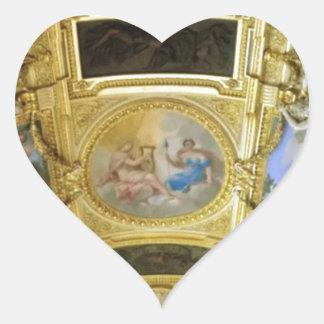 pintura francesa del techo pegatina en forma de corazón