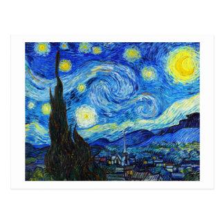Pintura fresca de Vincent van Gogh de la noche Postal