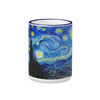 Pintura fresca de Vincent van Gogh de la noche Taza A Dos Colores